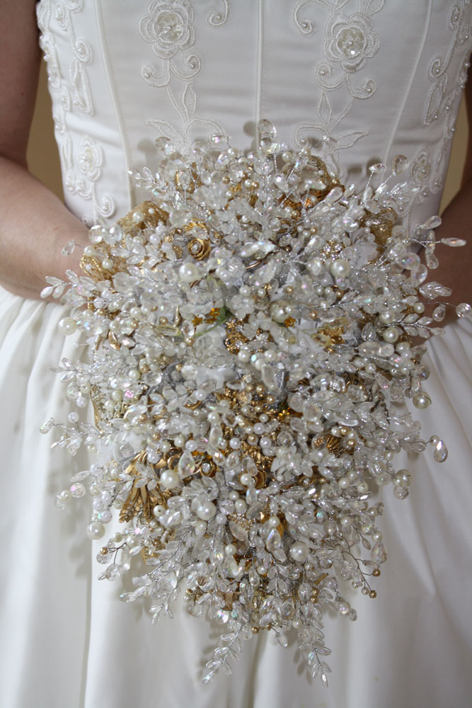 Bridal Bouquets With Vintage Brooches : Vintage brooch bouquet bespoke bouquets